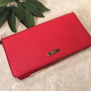 Aldo red gold wallet clutch